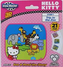 HELLO KITTY View-Master 3D Adventure 3 Reels See & Read Story 1 Zoo Sanrio NEW