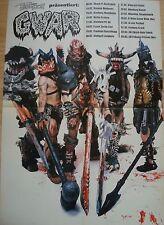 KING`s X  /  GWAR   __  1 Poster / Plakat   __  41 cm x 59 cm