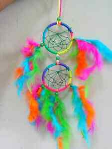 DREAM CATCHER HAND MADE FEATHERS WALL HANGING HOME CAR DECOR GIFT ITEM
