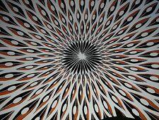 Mid Century Modern Eames Era Atomic Jacques Colton Peacock Glass Bowl Tray Art