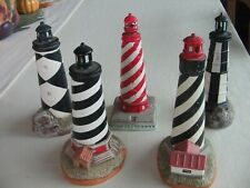 "Geo. Z. Lefton set 5 ceramic lighthouses 6"" 1993"