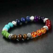 Bracelet 7 chakras en pierres semi-précieuses. Bijou Yoga / Méditation.