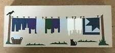 Cat'S Meow Village - 1993 Amish Clothesline - Wooster Ohio A Country Tradition