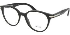Prada Eyeglass Frames PR07TV 1AB1O1 50 Black for Men Size 50 Optical Frame