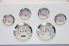 "Classic 6 Piece 3 3/8"" Gauge Kit Electrical 0-140 Speedometer Tachometer Set SBC"