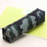 Students Makeup Pencil Case Cosmetic Pouch Camouflage Stationery Pen Bag
