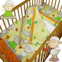 baby BEDDING set crib cot Sheeps Orange DUVET bumper MOSES BASKET sheet GIRL BOY