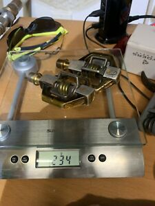 Crank Brothers Candy Mtb Mountain Bike pedals. Gold Pedals And Titanium Spindles