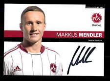 Markus Mendler Autogrammkarte 1 FC Nürnberg 2012-13 Original Signiert+A 159977
