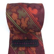 "Jhane Barnes Men's Tie 100% Silk Made in Italy Copper Red Green Metallic Tie 61"""