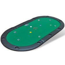 Tablero póker plegable para 10 jugadores colores verde y azul material MDF