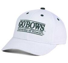 HAWAI'I RAINBOW WARRIORS NCAA VINTAGE WHITE SNAPBACK THE GAME BAR CAP HAT NEW!