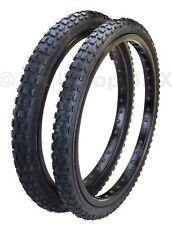 "Kenda K44 KNOBBY dirt old school BMX bicycle tires 20"" STAGGERED (PAIR) BLACK"