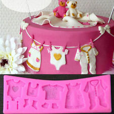 BABY CLOTHES, BABY SHOWER SILICONE MOULD FOR CAKE TOPPERS, CHOCOLATE, CLAY ETC