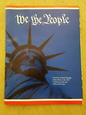 VINTAGE 1972 PROMO California Federal Savings State Federal Elections Guide Book