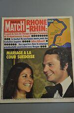 REVUE PHOTO PARIS MATCH N°1413 JUIN 1976 MARIAGE A LA COUR SUEDOISE / DJIBOUTI