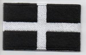 KERNOW CORNWALL FLAG EMBROIDERED PATCH BADGE -  (UK SELLER & FREE UK POSTAGE)