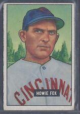 1951 Bowman #180 Howie Fox Pitcher Cincinnati Reds EX