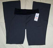 CALVIN KLEIN Quick Dry YOGA, WORKOUT, EXERCISE Pants Gray XS, Black Foldover Top