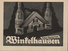 Pr. STARGARD, Werbung 1924, Winkelhausen Deutscher Weinbrand Alte Reserve