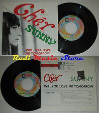 LP 45 7'' CHER Sunny Will vyou aimez-moi demain 1999 italie ROUGE RONNIE cd mc