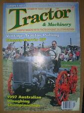 TRACTOR & MACHINERY MAGAZINE SEPTEMBER 1997 MASSEY-HARRIS GP