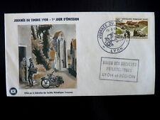 FRANCE PREMIER JOUR FDC YVERT 1151      MOTO      15+5F     LYON     1958