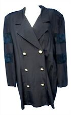 03676 L.A. Cover Women Size 20 Jacket Coat Black Long Bust 48