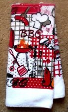 New BBQ Backyard Barbeque Dish Hand Guest Towel Fathers Day