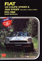 Fiat 124 Coupe, Spider, 2000 Spider Repair Manual 1971-1984