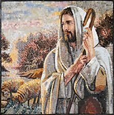 Stone Art Mosaic Jesus The Shepherd Mosaic Religious Mosaic Tile