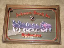 "Large Vintage Budweiser King of Beers Anheuser-Busch Clydesdale Mirror 35"" X 25"""