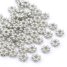 180 Metallperlen SPACER BLUMEN 3,5mm antik kupferfarbig Perlen AN018