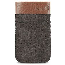 Etui Pouch Elements Twice Cuir Textile Gris Taille M 73x125mm