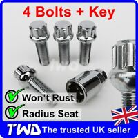 4x ALLOY WHEEL LOCKING BOLTS FOR VW TRANSPORTER T4 T5 T6 (M14x1.5) LUG NUT [Wb]