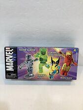 Marvel Universe Minimates Iron Man, Silver Surfer, Classic Wolverine, Gamma Hulk