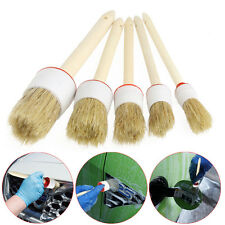 Dia. 20mm Soft Wood Handle Paint Car Wash Detailing Brush Clean Trim Seats Wheel
