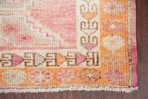 NEW Vegetable Dye MUTED Oushak Turkish Oriental Runner Rug Distressed Wool 3x12