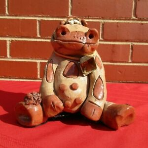 Nancy Hicks Signed Vintage Pottery Cow, NC
