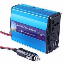 300W Dual DC 12V to 110V AC Outlets Car Power Inverter Adapter 2 Smart USB Port