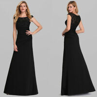 Ever-Pretty Lace Neck Long Formal Evening Party Dresses Chiffon Prom Gowns 07924