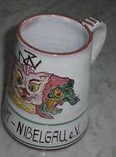 keramik krug NZN narren zunft nibelgau 20 j akt mtglsch 1980 fasnacht leutkirch