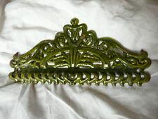 ANCIEN FRONTON  GARNITURE en fonte émaillée vernissée couleur vert