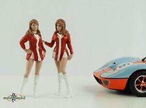 Figurine Race Day 2 Grid Girls Paddock Set Le Mans 1:18 American Diorama No Car
