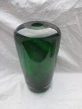 seltene HOLMEGAARD Glas Vase 60er scandinavian design 2,8 Kg russisch grün TOP