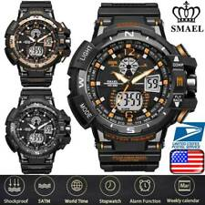 SMAEL Mens Multifuntional Sports Watch Dual Display LED Digital Wristwatches X