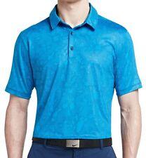 NWT!! Nike Golf Men's Mobility Micro Geo Golf Polo Shirt Blue Sizes M 873112 406