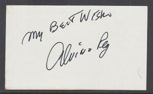 Alvino Rey, American Big Band & Swing Era Musician & Bandleader, signed 3x5 card