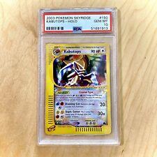 PSA 10 GEM MINT Kabutops 150/144 Skyridge Set CRYSTAL HOLO RARE Pokemon Card