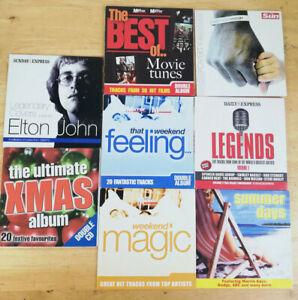 Bundle of 8 Newspaper Promo Mixed CDs : Elton, Xmas , Movie Tunes + more